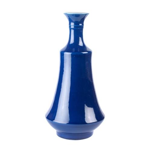 Bell vase glaze blue sapphire