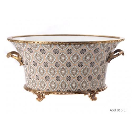 Oval bowl Napoleon III Kashmir
