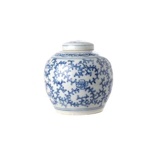 Tea box floral round