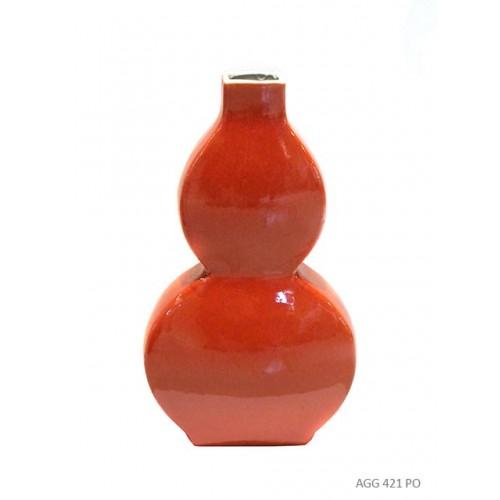 Vase gourde plat corail