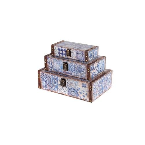 Set de 3 coffrets azulejos
