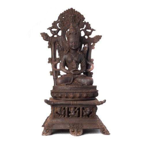 Bouddha tibetain fonte de fer